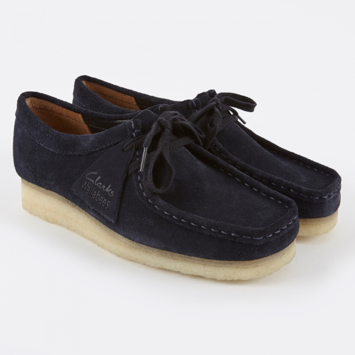 Clarks Originals Clarks Wallabee - Navy Suede (Image 1)