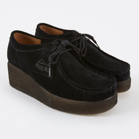 Clarks Peggy Bee - Black Suede