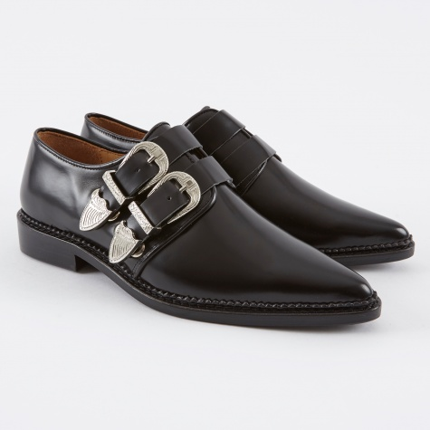 Buckle Shoe - Black Polido