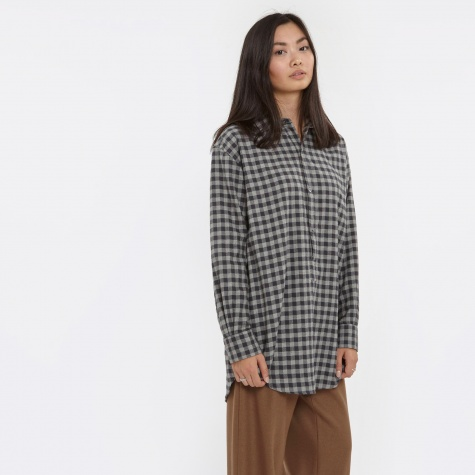 Sandra Shirt - Light Grey Checkered