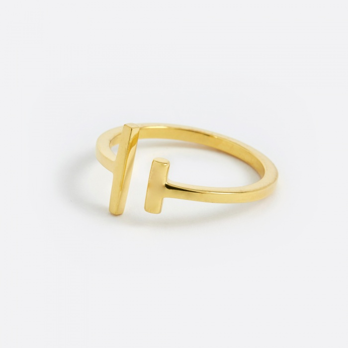 Maria Black Kyla Ring - Polished Gold 14K (Image 1)