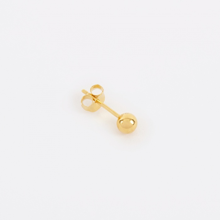 Maria Black Ball Earring - 14K Gold Plated (Image 1)