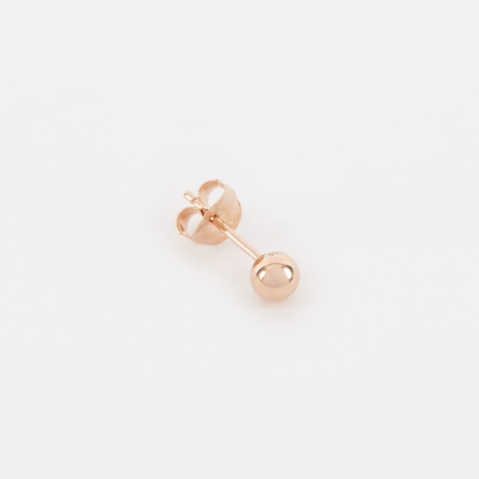 Maria Black Ball Earring - Rose Gold (Image 1)