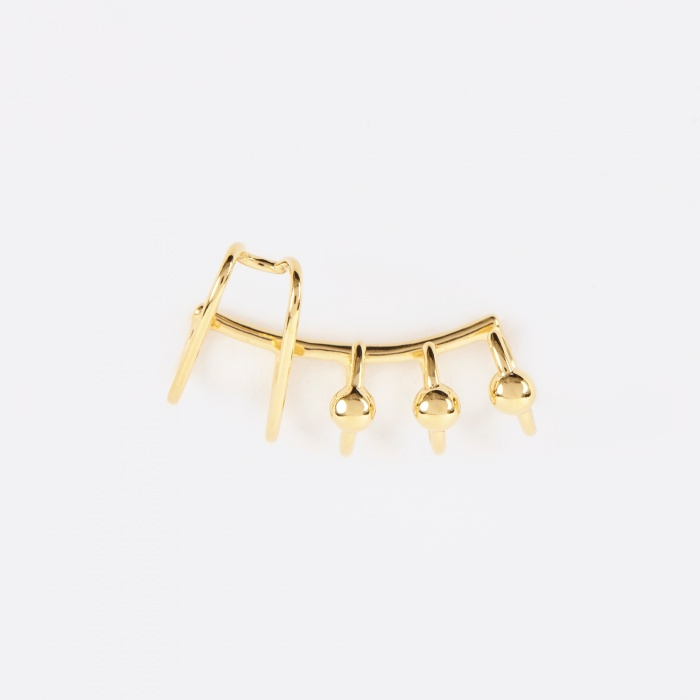 Maria Black Orbit Earcuff Right - 14K Gold Plated (Image 1)