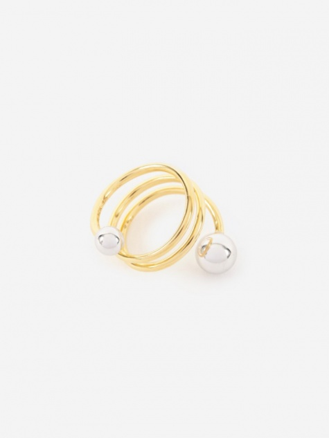 Body Double Spiral Ring - 14K Gold Plated/Silver