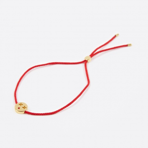 Red Cord Friends Quirky Bracelet - 18K Gold