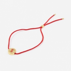 Ruifier Red Cord S Bracelet - 18K Gold Plated