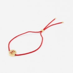 Ruifier Red Cord E Bracelet - 18K Gold Plated