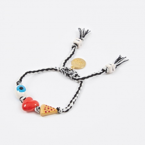 I Love Pizza Bracelet - Black