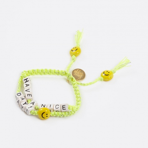 Have A Nice Day Bracelet - Yellow