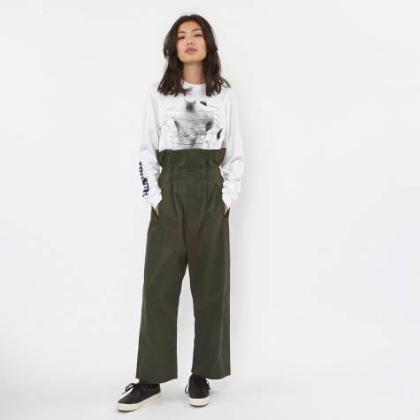 PAM Tied Up Paper Bag Trouser - Hunter Green
