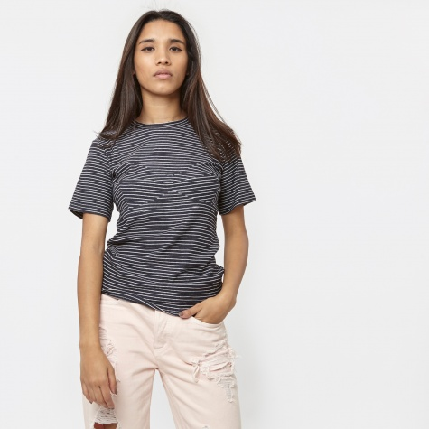 PAM Holiday Top - Navy Stripe
