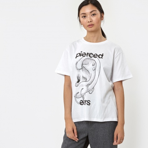Jersey Pierced Ears S/S T-Shirt - White