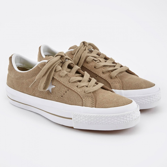 Converse One Star Suede Ox - Sandy/White (Image 1)