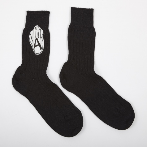 Vonsono Socks With Badge - Black