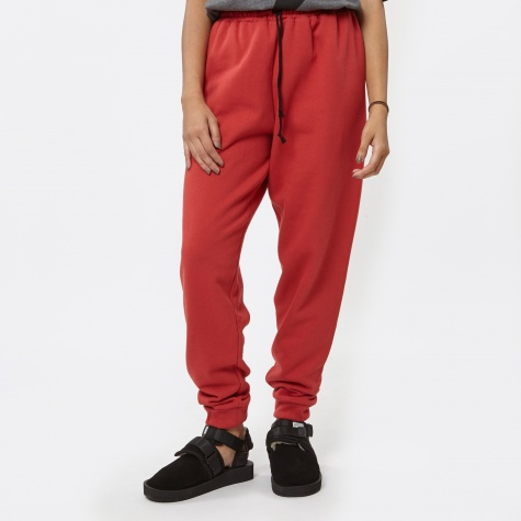 Vonsono Plain Drawstring Joggers - Rusty Red