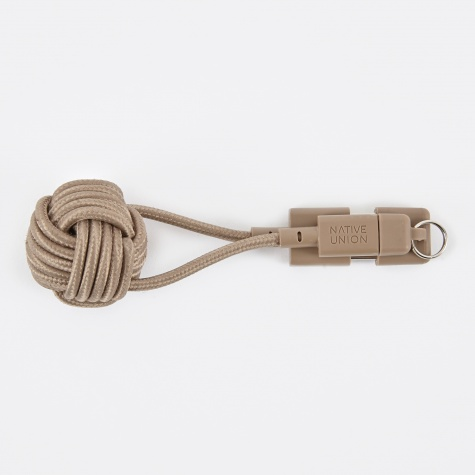 KEY Lightning-to-USB Cable - Taupe