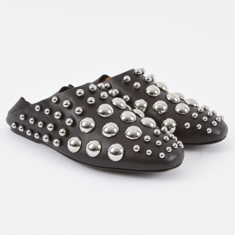 Edie Studded Loafer - Black