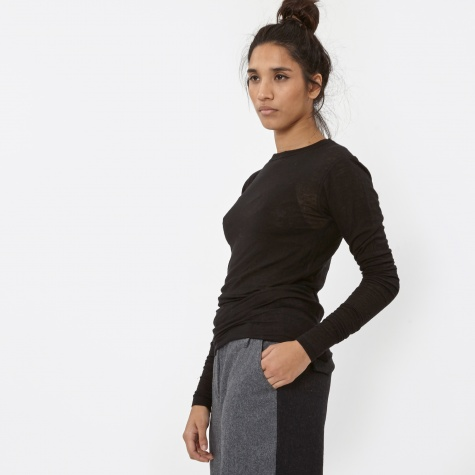 T By Alexander Wang Slub Classic Long Sleeve - Black