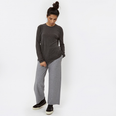 T By Alexander Wang Slub Classic Long Sleeve - Charcoal