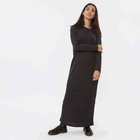 T By Alexander Wang Merino Jersey Roll Neck Fitted L/S Dress - C