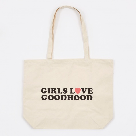 Girls Love Goodhood Tote Bag - Natural