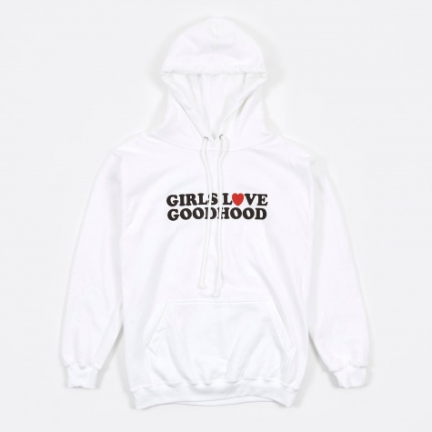 Girls Love Goodhood Hoodie - White