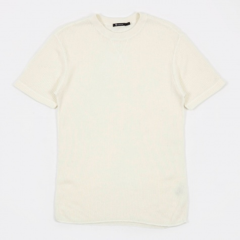 T by Alexander Wang Waffle Short Sleeve T-Shirt - Bone