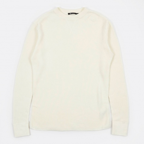 T by Alexander Wang Waffle Long Sleeve T-Shirt - Bone