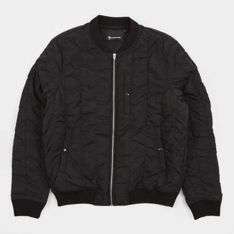 T by Alexander Wang Quilted Bomber Jacket - Black