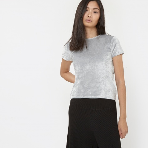 Base Range Sahar T-Shirt - Silver Velour