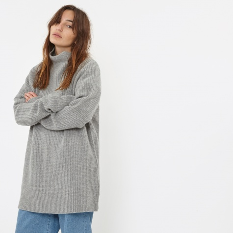 Highneck Sweat - Grey