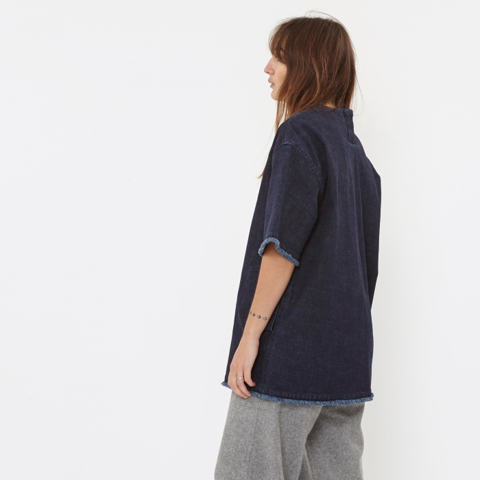 Stand Alone Wide T-Shirt - Denim (Image 1)