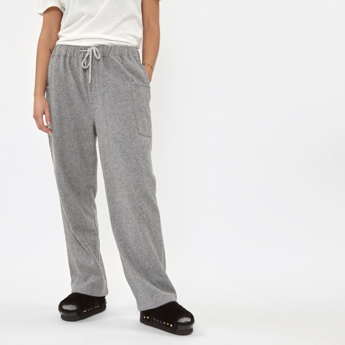 Stand Alone Wool Trouser - Grey (Image 1)