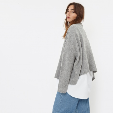 Knit Wool Jumper - Grey