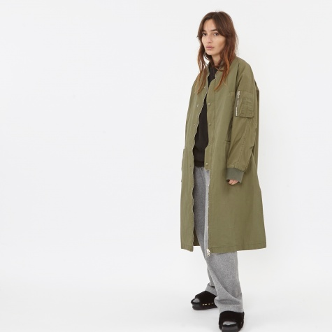 Side Slit Field Jacket - Khaki