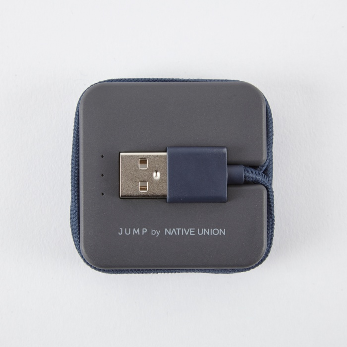 Native Union JUMP Cable 2-in-1 Cable & Portable Charger - Marine (Image 1)