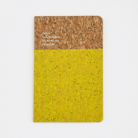 Cork Notebook Yellow - Small