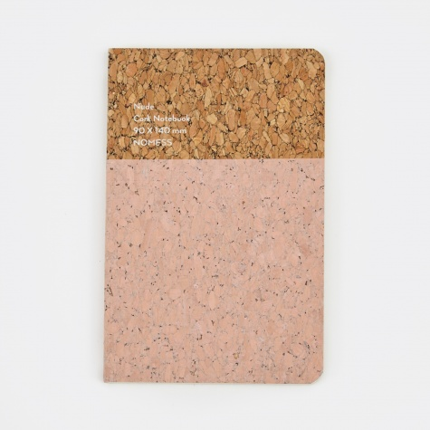 Cork Notebook Nude - Small