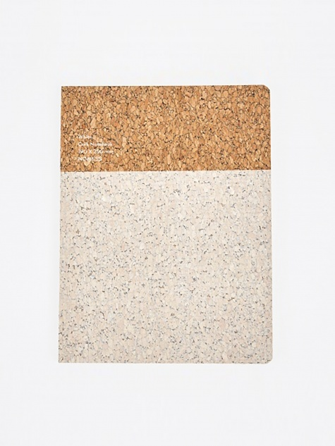 Cork Notebook White - Large