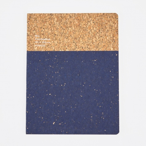 Cork Notebook Blue - Large