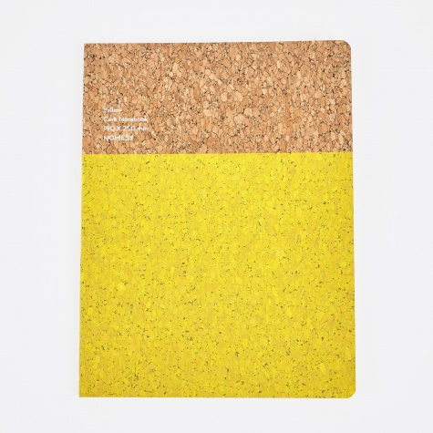 Cork Notebook Yellow - Large