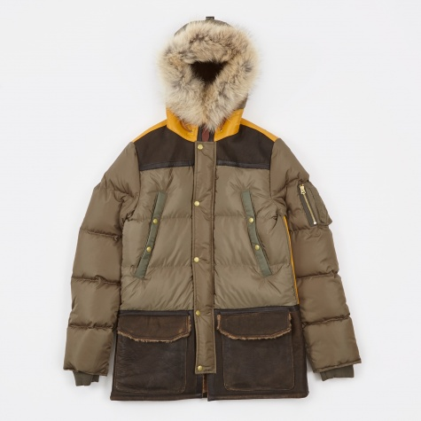 Down Parka Type MR-54 Jacket - Khaki/Yell