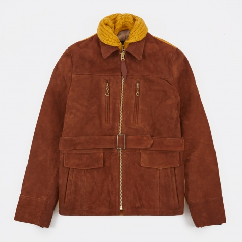 SH-30 Civilian Long Jacket - Brown/Yellow