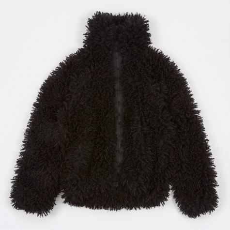 Lewis Jacket Poly Curl Fur - Black
