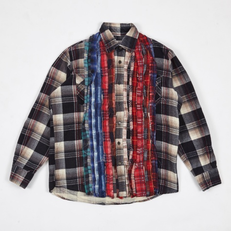 Ribbon Rebuild Flannel Shirt - Assorted