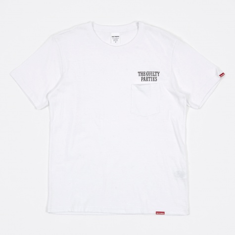 Heavy Weight Crew Neck Pocket T-Shirt (Type-1) - Whi