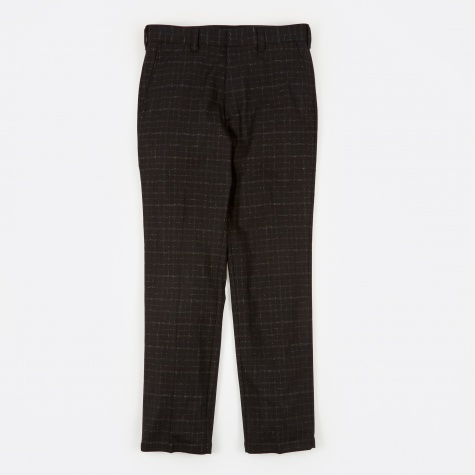 Blurred Check Skate Trousers - Black/White