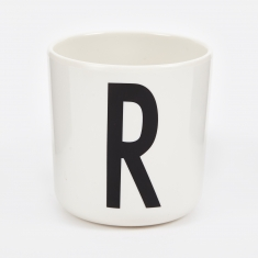Design Letters Melamine Cup - R