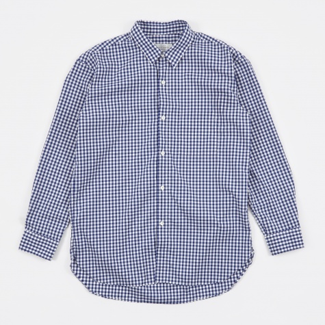 Gingham Check Shirt - Navy/White